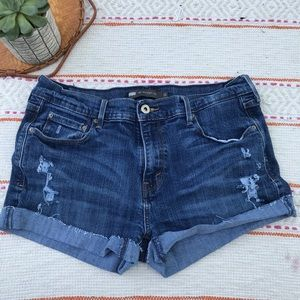 Levi's 505 distressed jeans shorts size 12